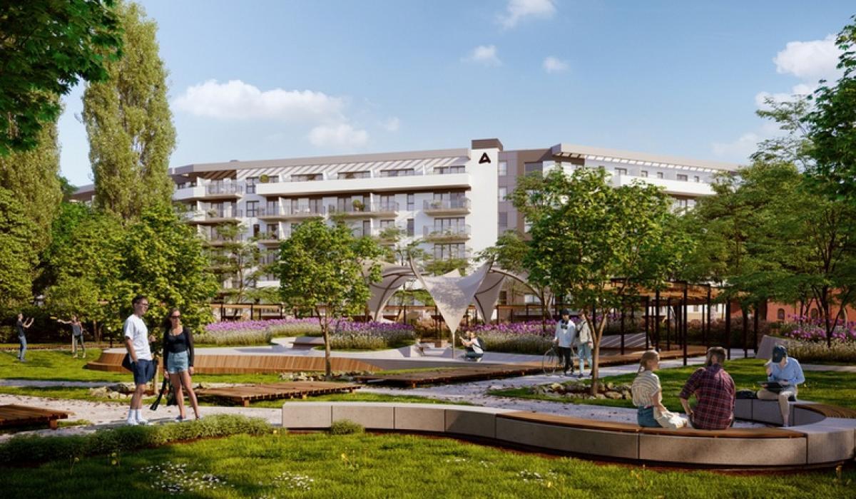 Przykładowa wizualizacja parku stworzona o wstępną koncepcję - może jeszcze ulec zmianie