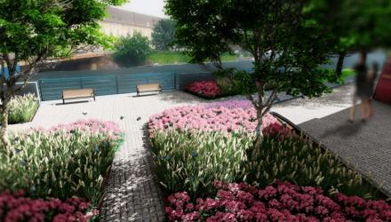 Planowany park kieszonkowy przy moście Uniwersyteckim