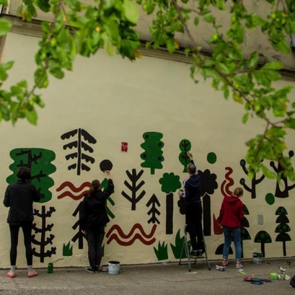 Malowanie muralu zakończyło festiwal C-Change. Za nami ponad 30 wydarzeń [WIDEO]